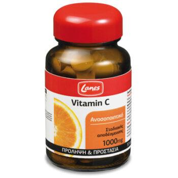 Lanes Βιταμίνη C 1000mg με Βιοφλαβονοειδή, 30 ταμπλέτες σταδιακής αποδέσμευσης