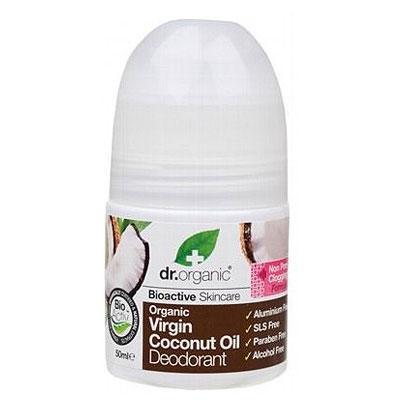 Dr.Organic Virgin Coconut Oil Deodorant, 50ml