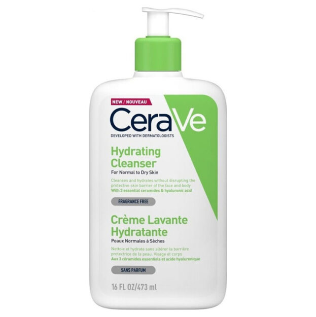CeraVe Hydrating Cleanser Cream for Normal to Dry Skin, 473ml-naturepharm