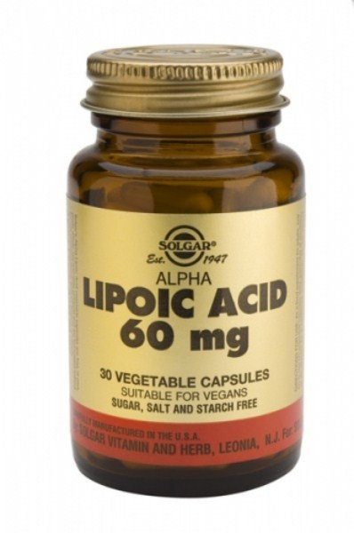 Solgar Alpha Lipoic Acid 60mg, vcaps 30s