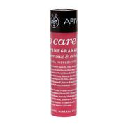 Apivita Lip care  φροντίδα χειλιών μέ βούτυρο κακάο & ρόδι 4.4gr