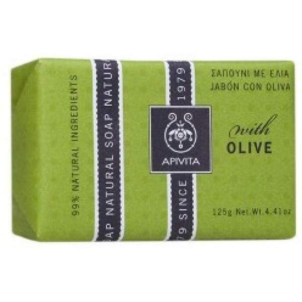 Apivita Natural Soap Olive, 125gr