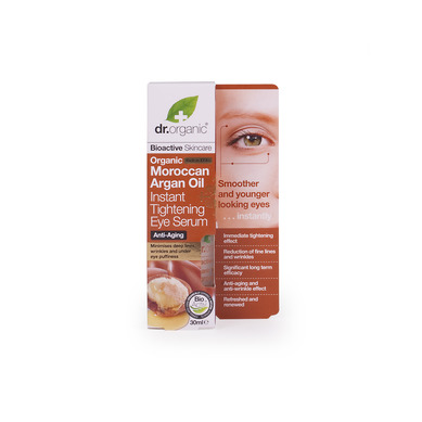 Dr. Organic Argan Oil Instant Tightening Eye Serum, 30 ml