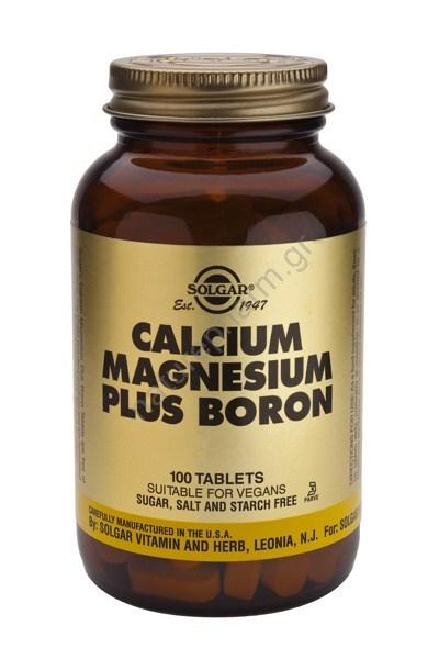 Solgar Calcium Magnesium Plus Boron tabs 100s