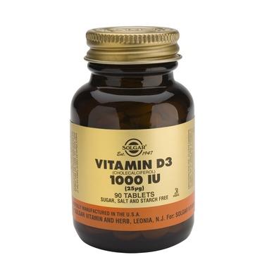 Solgar Vitamin D3 1000 IU tabs 90s