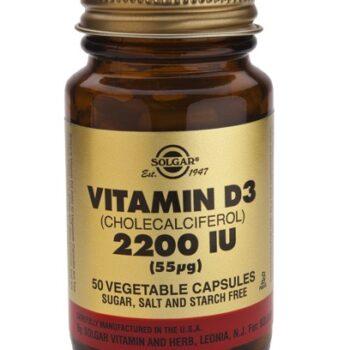 Solgar Vitamin D3 2200 IU veg. caps 50s