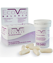 Ecovag Balance 10  Ενδοκολπικά υπόθετα Γαλακτοβακίλλων