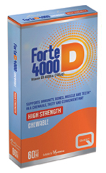 Forte D 4000, 60 chewable tabs