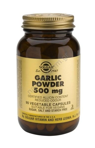 Solgar Garlic 500mg veg caps 90s
