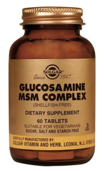 Solgar Glucosamine MSM Complex (Shellfish-Free) tabs 60s