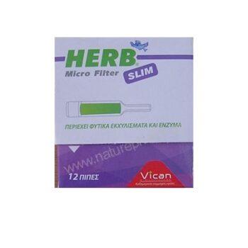 HERB Microfilter, 12 πίπες για slim τσιγάρο