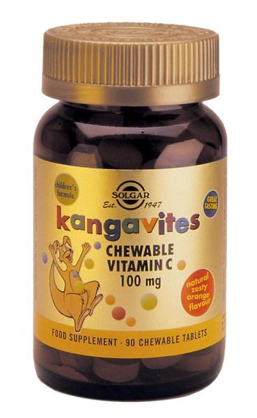 Solgar Kangavites Orange vit.C 100mg chewable tabs 90s