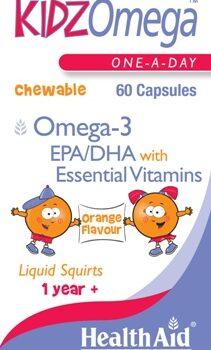 Health Aid Kidz Omega 3 & Vitamin A, D, E, caps 60s