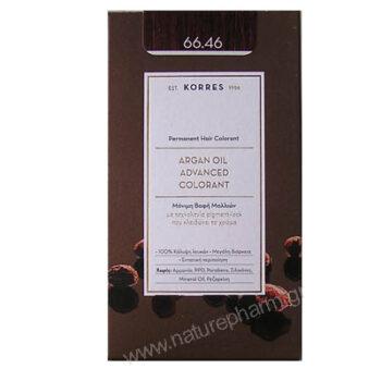 Korres Argan Oil Advanced Colorant Νέα Μόνιμη Βαφή Μαλλιών 66.46 Έντονο Κόκκινο Βουργουνδίας