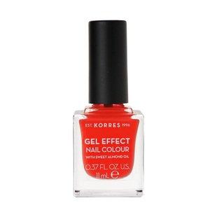 Korres Gel Effect Nail Colour No45 Coral, 11ml