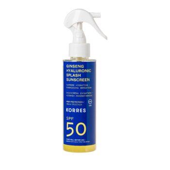 Korres Ginseng Hyaluronic Splash Αντηλιακό SPF50, 150ml