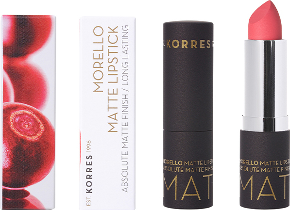 Korres Morello Matte Lipstick 49 Watemelon Sorbet, 3,5gr
