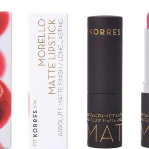 Korres Morello Matte Lipstick 75 Strawberry Fields, 3,5gr