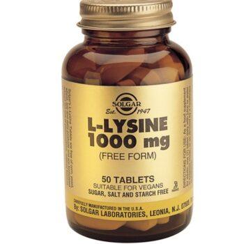 Solgar L-Lysine 1000mg veg.caps, 50s