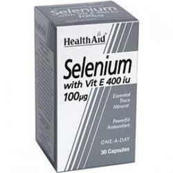 Health Aid Selenium 100mg Vitamin E 400iu, 30caps
