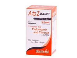 Health Aid A to Z Multivit Minerals, 90 tabs