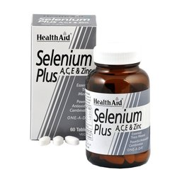 Health Aid Selenium 200μg Plus , 60tabs