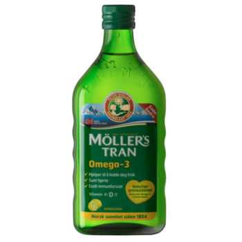Moller's Cod Liver Oil Μουρουνέλαιο Γεύση Λεμόνι, 250ml