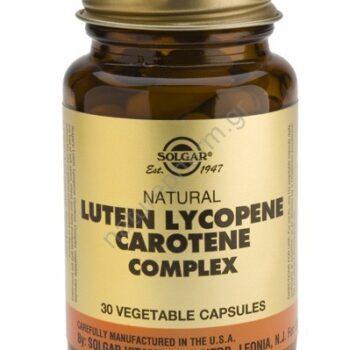 Solgar Lutein Lycopene Carotene Complex veg caps 30s