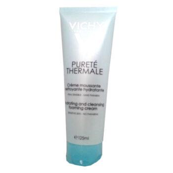 Vichy Purete Thermale Creme Moussante Nettoyante Hydratante, 125ml
