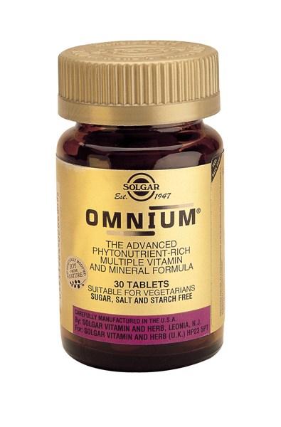 Solgar Omnium Multiple tabs 30s