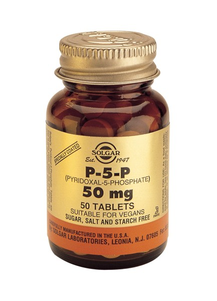 Solgar P-5-P (Pyridoxal-5-Phosphate) 50mg tabs 50s