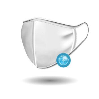 Μάσκα Υφασμάτινη Πολλαπλών Χρήσεων Λευκή, 1τεμ.