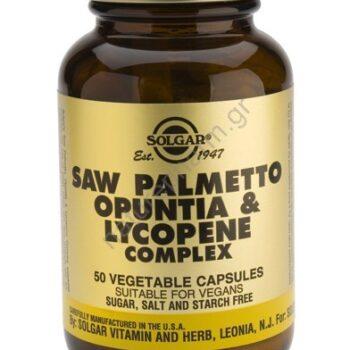 Solgar Saw Palmetto Opuntia Lycopene Com. veg caps 50s