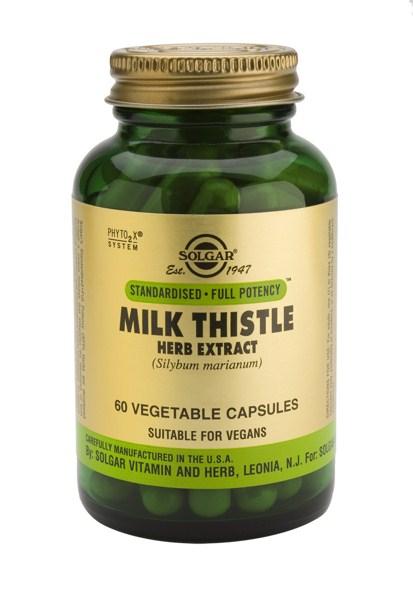 Solgar SFP Milk Thistle Herb/ Seed veg. caps 60s