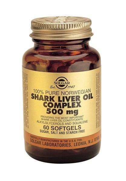 Solgar Shark Liver Oil Complex 500mg softgels 60s