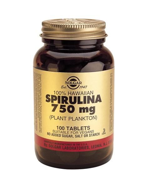 Solgar Spirulina 750mg tabs 100s