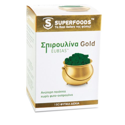 Superfoods SPIRULINA  (Σπιρουλίνα) Gold Eubias ,180tabs