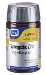 Synergistic Zinc 15mg with copper, 90tabs