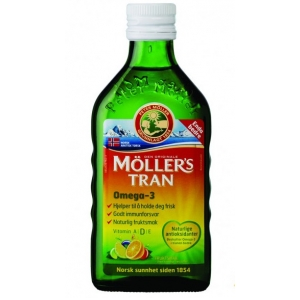 Moller's Cod Liver Oil Μουρουνέλαιο Γεύση Tutti Fruti , 250ml