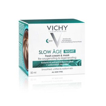 Vichy Slow Age Κρέμα Νύχτας και Μάσκα Προσώπου 2 σε 1, 50ml