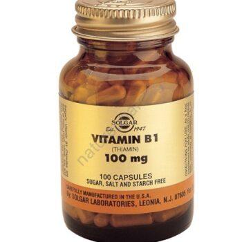 Solgar Vitamin B1, 100mg veg caps 100s