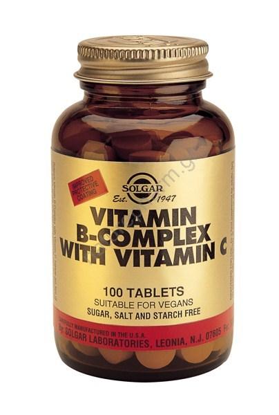 Solgar Vitamin B-Complex with vit.C, tabs 100s