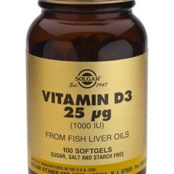 Solgar Vitamin D3 1000IU softgels 100s