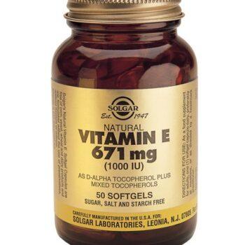 Solgar Vitamin E 1000 IU softgels 50s