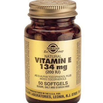 Solgar Vitamin E 200 IU softgels 50s