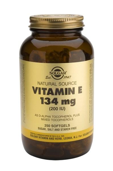 Solgar Vitamin E 200 IU softgels250s