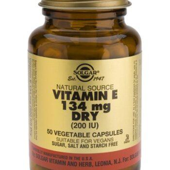 Solgar Vitamin E 200 IU dry veg.caps 50s