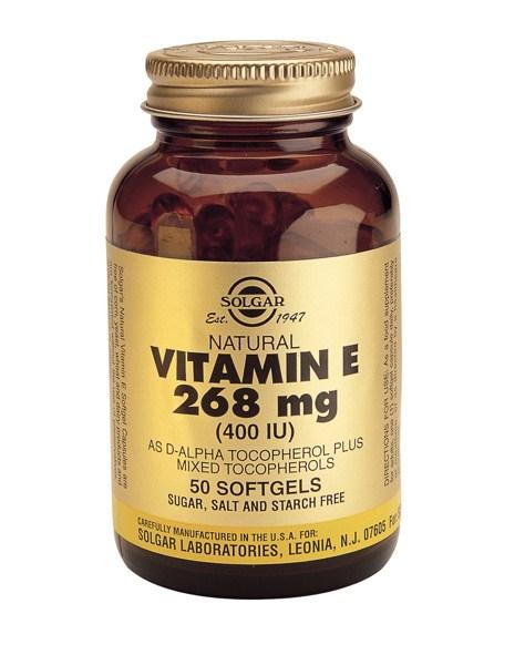 Solgar Vitamin E 400 IU softgels 50s