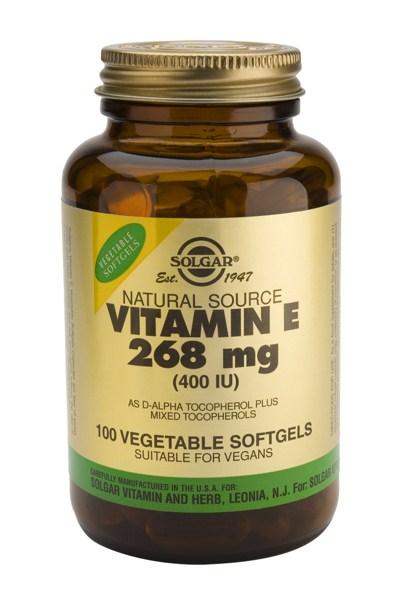 Solgar Vitamin E 400 IU softgels 100s