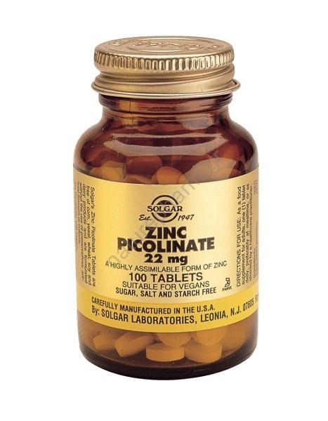 Solgar Zinc Picolinate 22mg tabs 100s